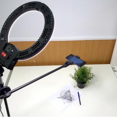 Кольцевая лампа и штатив для съемки сверху со светом Ledcube Anytime Ring Mount